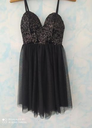 Новое платье в паетки и с фатином