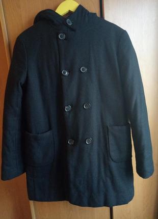 Теплое пальто фабрики юность для мальчика на 10 лет
