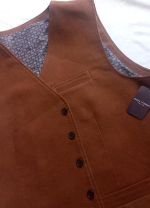 Brook taverner since 1912 винтаж жакет жилет кожа пиджак бренд  замша шёлк шелковый