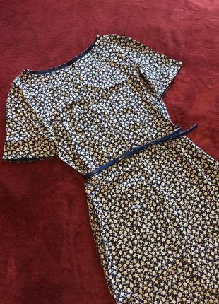 Платье платьице цветочный принт лёгенькое средняя длина коттон короткий рукав
