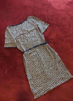 Платье платьице цветочный принт лёгенькое средняя длина коттон короткий рукав2 фото