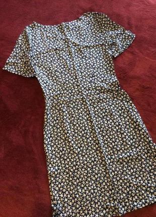 Платье платьице цветочный принт лёгенькое средняя длина коттон короткий рукав5 фото