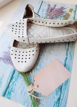 Кожаные ортопедические мокасины туфли балетки