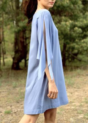 Свободное легкое платье с оригинальными рукавами-завязками