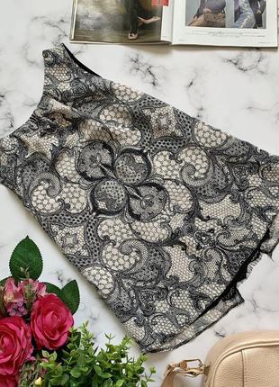 ♥️ блуза в принт с кружевом m/l dorothy perkins