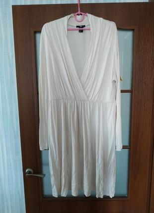Классное белое платье h&m