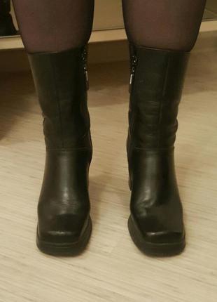 Фирменные ботинки натуральная кожа