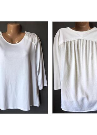 Блуза с комбинированной тканью