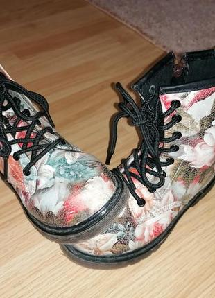 Ботинки, сапожки демисезонн для девочки модные