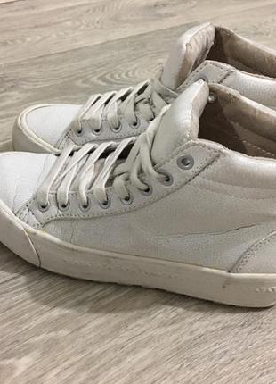 Стильные белые кеды кроссовки на платформе bershka 36 размер
