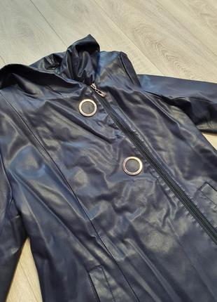 На все 1+1=3 темно синяя куртка кож зам весна осень