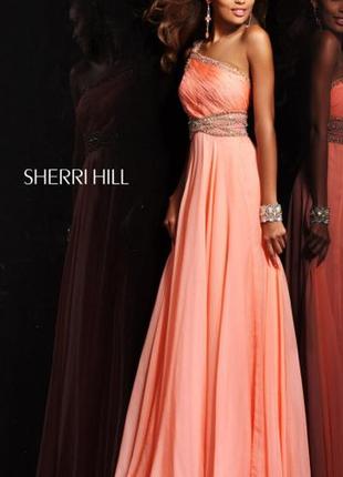 Выпускное шикарное, длинное  платье в пол sherri hill