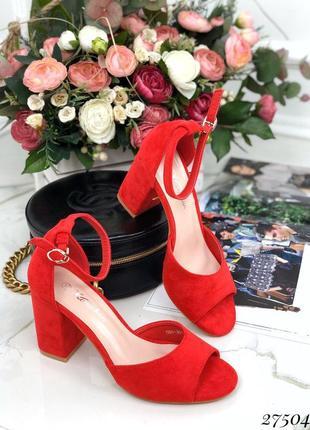 Красивые стильные босоножки, учтойчивый каблук, босоножки на квадратном каблуке