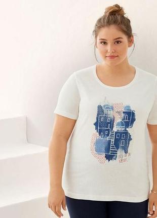 Коттонова футболка батал esmara  німеччина в картонній упаковці