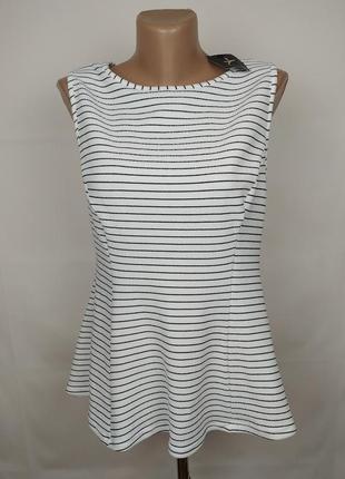 Блуза новая стильная приталенная в полоску uk 16/44/xl