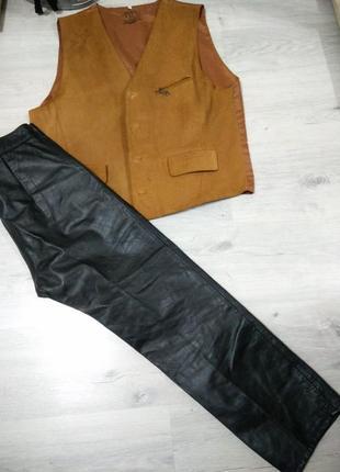 Кожаные мужские штаны.