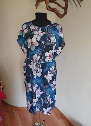 Платье халат хлопок штапель