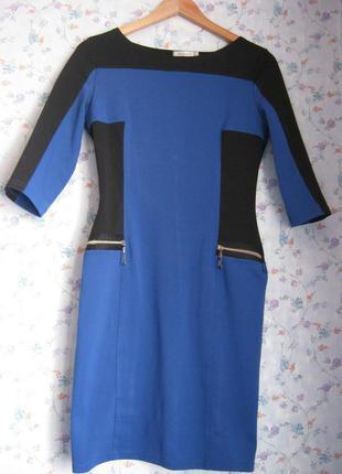 Классическое сине-черное платье