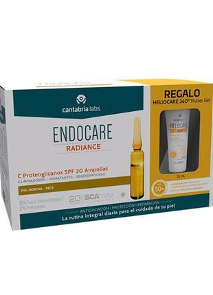 Ампулы для лица endocare c proteoglicanos spf для норм и сухой кожи