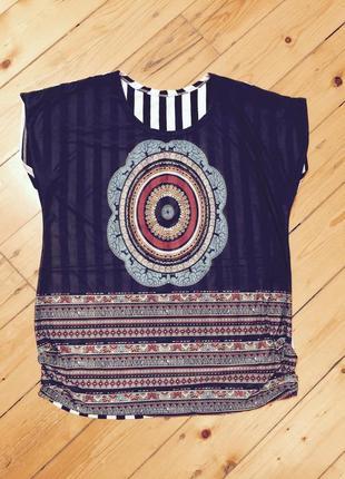 Крутая футболка из хлопка и вискозы отличного качества,марокко
