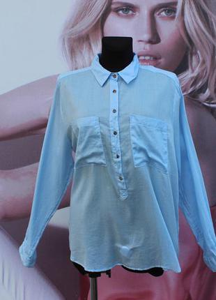 Легкая рубашка h&m 100% котон