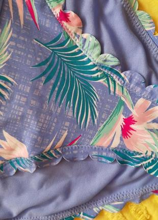 Низ от купальника, плавки    с тропическим принтом2 фото