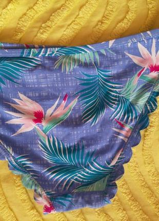 Низ от купальника, плавки    с тропическим принтом4 фото