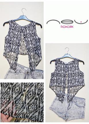 Шифоновая блуза топ с красивой спинкой new look xs-s