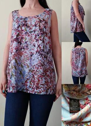 Легкая вискозная блуза свободного кроя