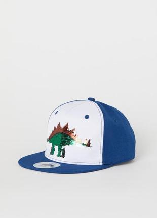 Кепка бейсболка h&m динозавр паетки
