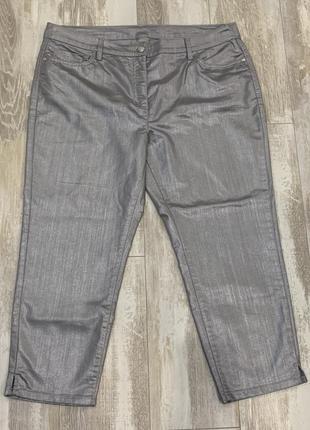 Укороченные джинсы штаны бренда canda c&a, размер l, евро 46.