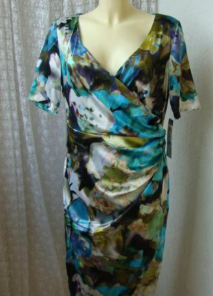 Платье летнее атласное vera mont р.48 №7450