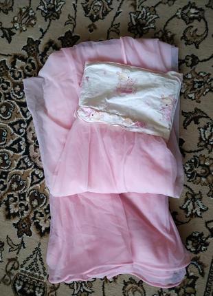 Розовый балдахин piccolino