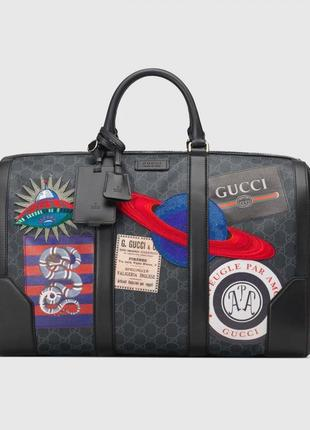 Дорожная сумка gucci night courrier soft gg supreme carry-on duffle
