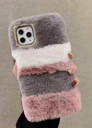 Пушистые чехлы для iphone x/xs; 11