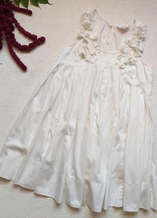 Хлопковое платье hm garden collection
