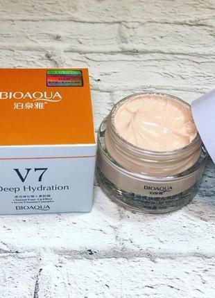 Крем для лица с тональным эффектом v7 deep hydration от bioaqua