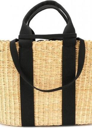 Черная плетенная сумка george в виде корзины