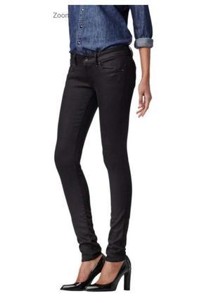 Мега стильные джинсы скинни g-star raw midge zip