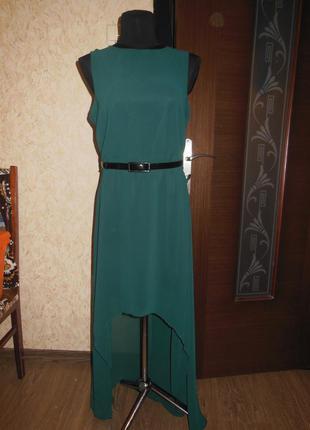 Вечернее , нарядное платье изумрудного цаета