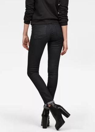 Мега стильные джинсы скинни g-star raw lynn mid skinny