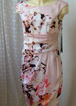 Платье летнее атласное vera mont р.42 №7454