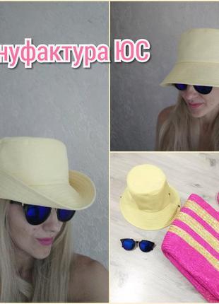 Стильная летняя панама с широкими полями. шляпа летняя. шляпа.