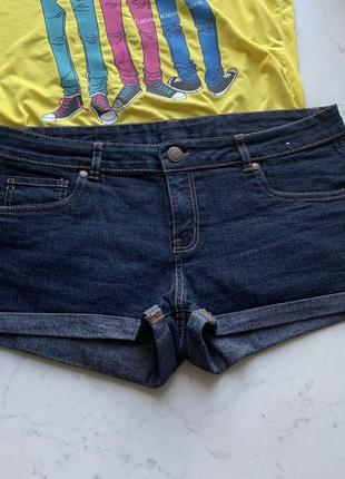 Стильные джинсовые шорты с подворотами denim&co 14 {42}