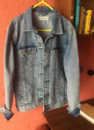 Джинсовая бойфренд куртка new look