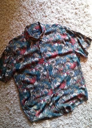 Oригинальная  мужская рубашка в принт от бренда «zara man»