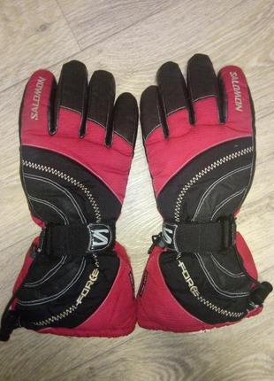 Перчатки лыжные , мото salomon 900 force red clima-dry