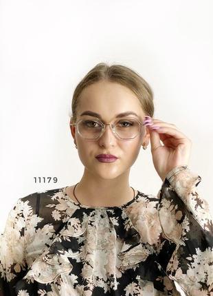 Имиджевые очки в прозрачной оправе к.11179