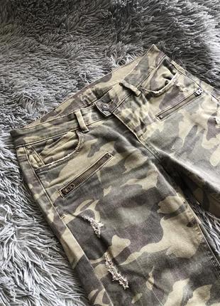 Милитари джинсы zara