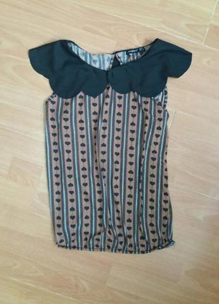 Очень красивая блуза с воротничком